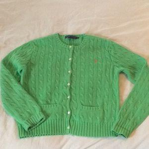 Ralph Lauren Sweaters - Ralph Lauren Green Cable Cardigan